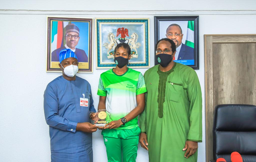 Minister of Sports receives Olympic-bound Anyanacho — Sport Bash